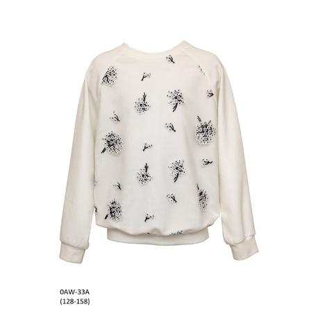Dzianinowa bluza z tiulowym przodem 0AW-33A, lifestyle, ubranka dla dziewczynek, e-zygzak.pl