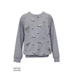 Dzianinowa bluza z tiulowym przodem 0AW-33B, lifestyle, ubranka dla dziewczynek, e-zygzak.pl