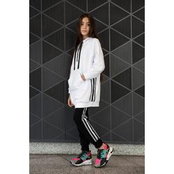Długa dzianinowa bluza z lampasami 0AW-36A, streetwear dla dziewczynek, sklep e-zygzak.pl