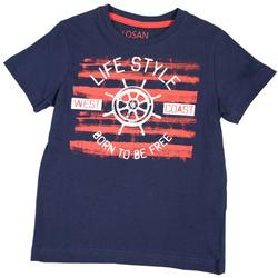 Granatowy t-shirt LOSAN