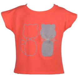 Pomarańczowa bluzka w kotki ANBOR