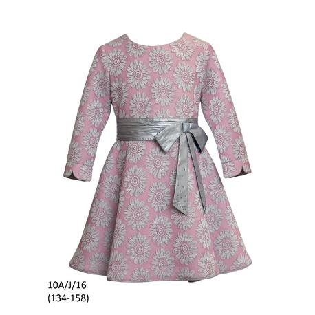 Sukienka dla dziewczynki z długim rękawem SLY