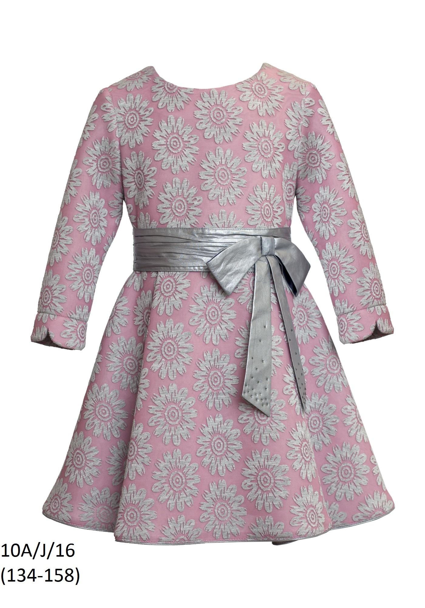 d8eeb3ba15 Znane Sukienka dla dziewczynki z długim rękawem SLY QK-77