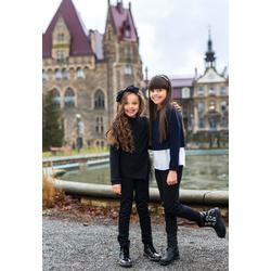 Czarny sweterek dziewczęcy SLY