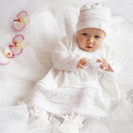 Komplet do chrztu dla dziewczynki Kokardki CHRZ-10