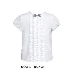Biała bluzka z kokardką SLY