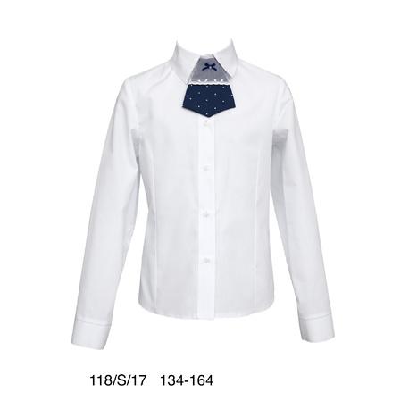 Biała bluzka z krawacikiem SLY.