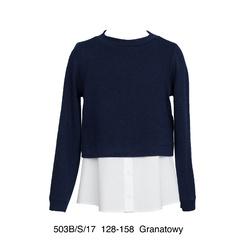 Granatowy sweterek z bluzeczką SLY