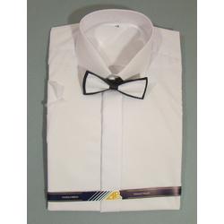 Biała koszula chłopięca z krótkim rękawem