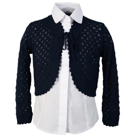 Granatowy sweterek - bolerko