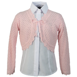 Różowy swetwerek - bolerko