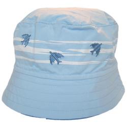 Kapelusz na lato Ikar niebiesko-biały