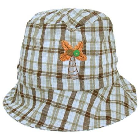 Letni kapelusik dla chłopca Kokos brązowy