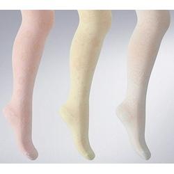 Rajtuzki dziewczęce bawełna żakard