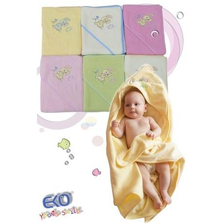 Okrycie kąpielowe dla niemowlaka Zajączek - EKO