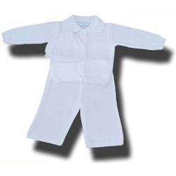 Komplet do chrztu dla chłopca w romby CHRZ-17