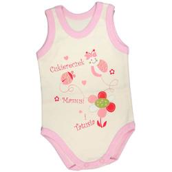 Body niemowlęce na ramiączkach ecru