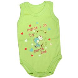 Body niemowlęce na ramiączkach zielone