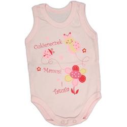 Body niemowlęce na ramiączkach różowe