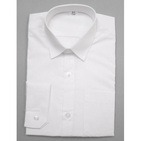 Biała koszula chłopięca z długim rękawem
