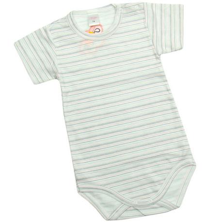 Body niemowlęce Piegusek w szaro-różowe paseczki