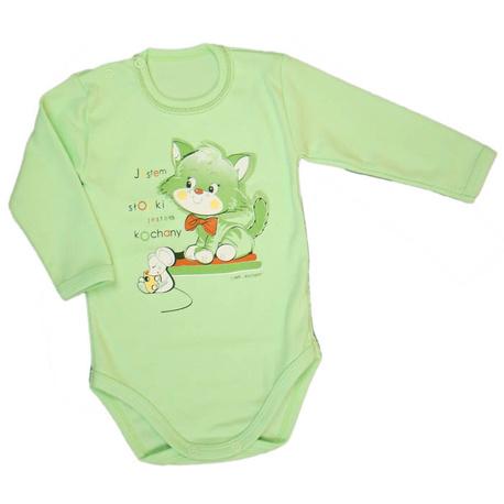 Body niemowlęce Dino zielone