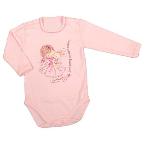 Body niemowlęce Dino różowe