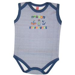 Body dla chłopca bez rękawa - KIKI-KIDS