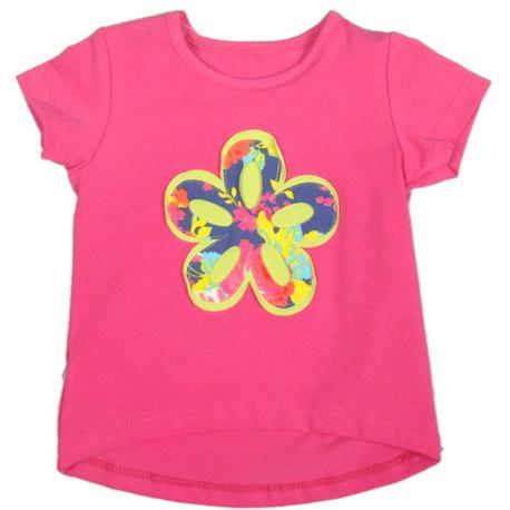 Różowa bluzka z kwiatkiem
