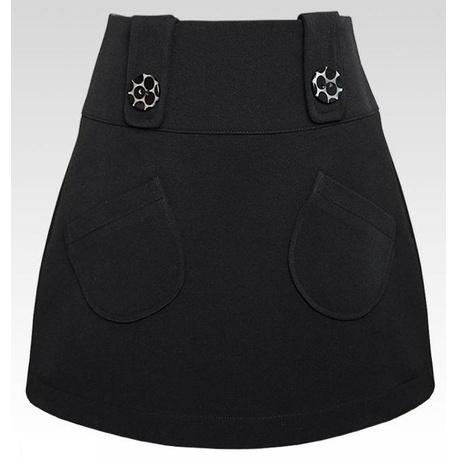 Czarna spódnica z kieszonkami