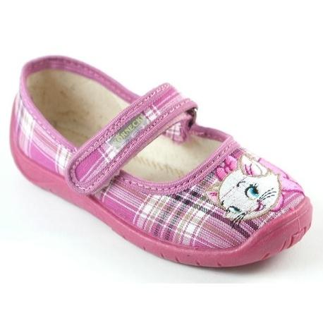 Kapcie dla dziewczynki - kotek-Kornecki