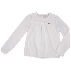 Biała bluzka z gmeczką u dołu