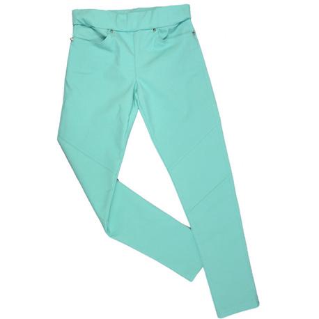 Spodnie dziewczęce miętowe